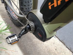 Haibike fatbike with 350W bosch drive