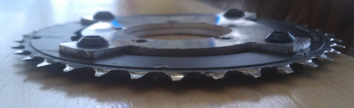Only 2 weeks of use on a mid drive unit with an alloy chainring