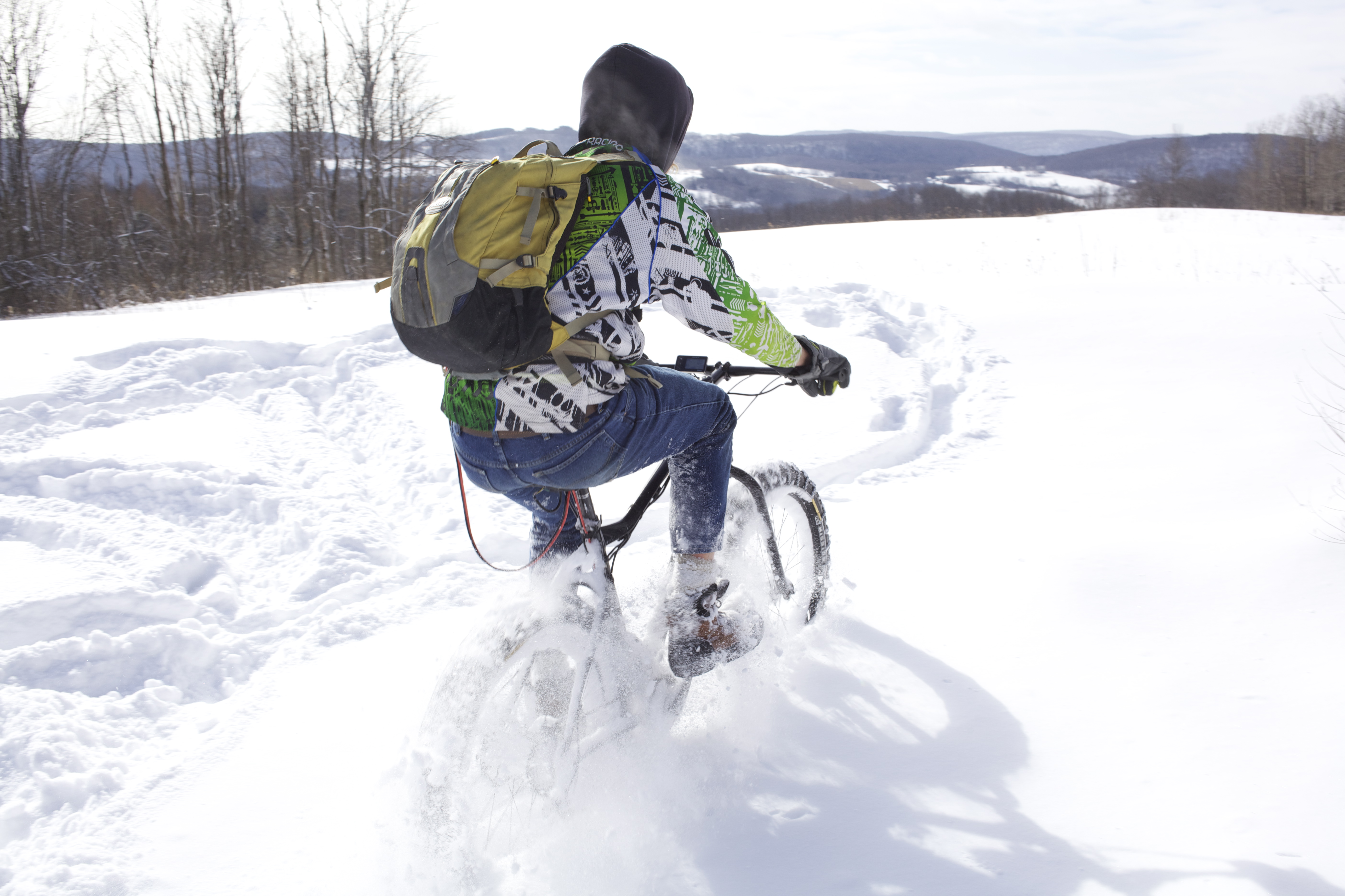 Slipnot Fatbike Tire Chains Totally Shred In Deep Powder