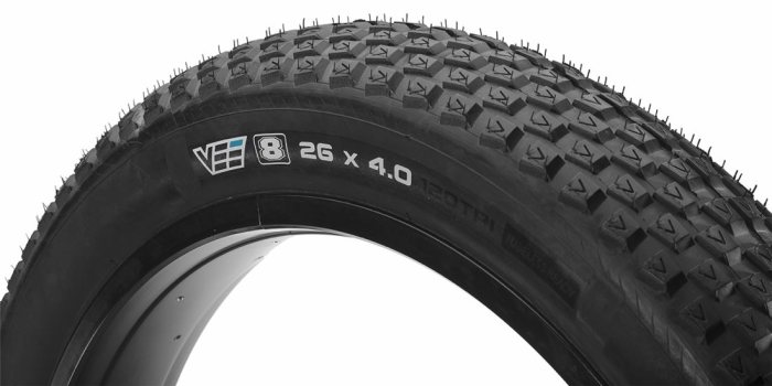 Another creative tread pattern from Vee Rubber that doesn't work.