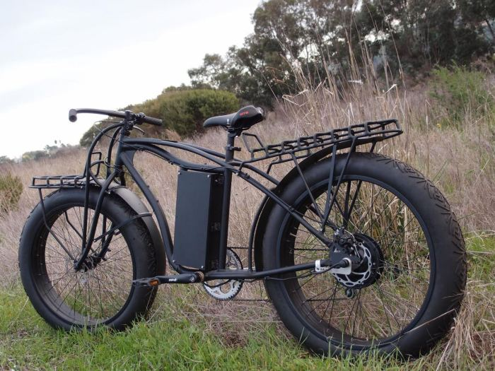 Their fat tire cargo bike frame is truly a work of art.