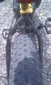Tires have a very nice tread pattern and plenty of clearance for bigger rubber.