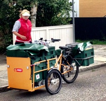 A perfect application for electric bikes, mail delivery