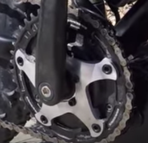 Lectric has built a 130BCD adapter shown mounted with a Race Face Narrow\Wide chainring