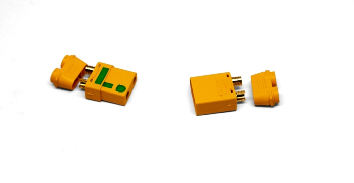 The XT90 connectors that are spark resistant have the green L on them.