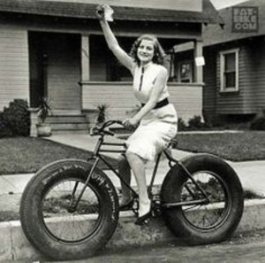Nothing sexier than a skinny woman on a fat bike.