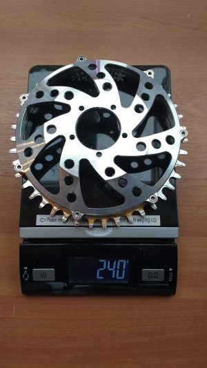 This chainring weighs close to what a chainring should weigh