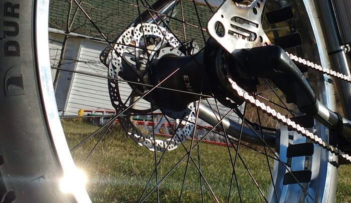 The Sturmey Archer 3 speed IGH works awesome even at high power under load