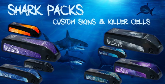 I really love the customizable vinyl skins that Eric ships with his shark packs