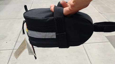 Using a saddle bag is the perfect way to hide your tiny battery somewhere where people will never think to look.