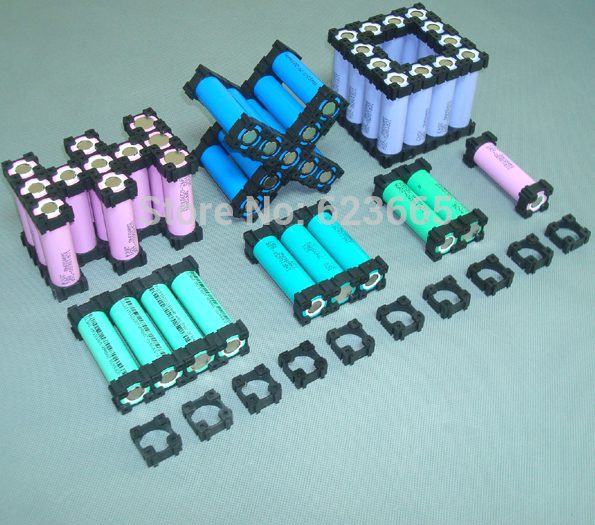 With 18650 plastic cell holders you can make almost any shape