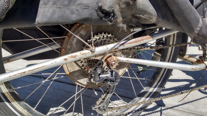 It's the real deal, if you're bike is clean and rust free, you're doing it wrong