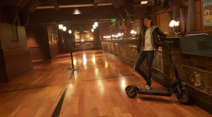 You can walk into the fanciest hotels with this scooter and no one will say a word.