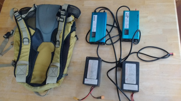 My Guerilla charging setup, 12Ah of batteries that I can fully charge from any outlet in <45 minutes