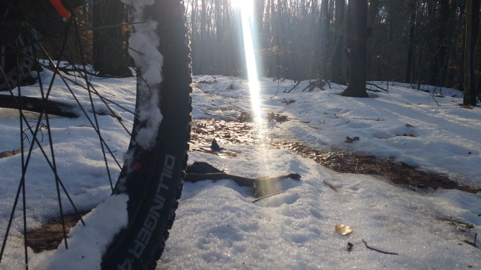 No matter if it's snow, slush, ice or bare ground you can ride and have a good time of it