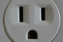 The stuff nightmares are made out of. I've always been haunted by the disturbing face of these outlets and I see them in my nightmares.